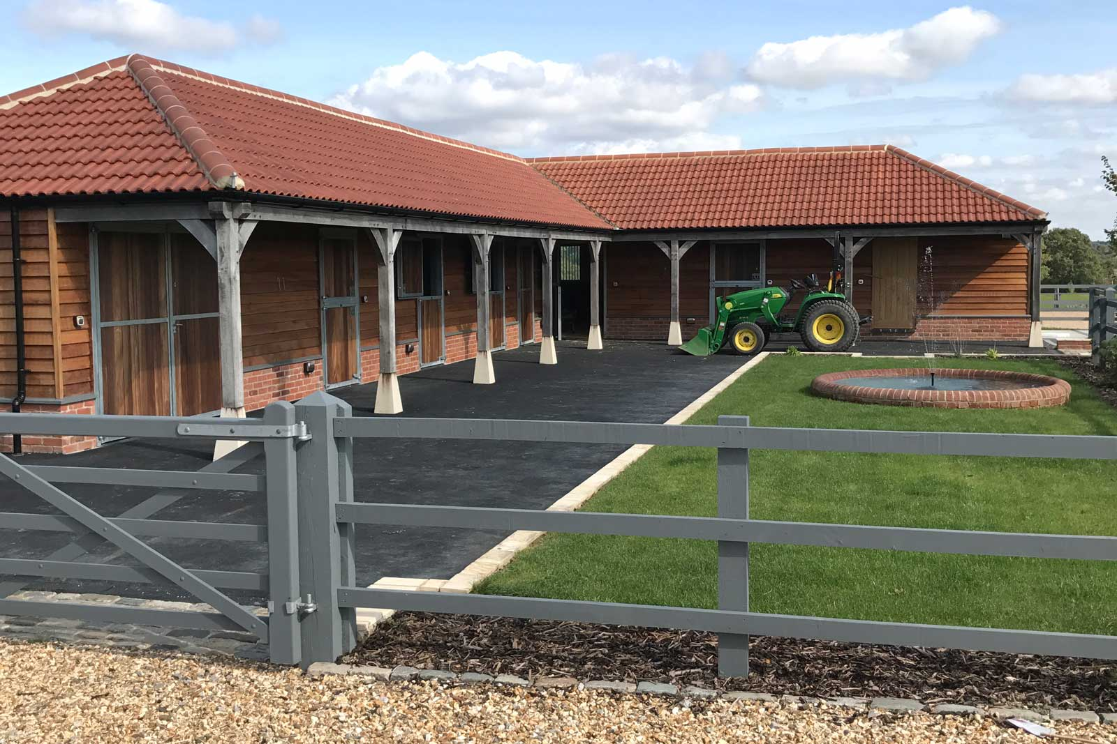 Stables in process of being built