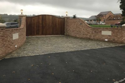 Gated entrance area with access control