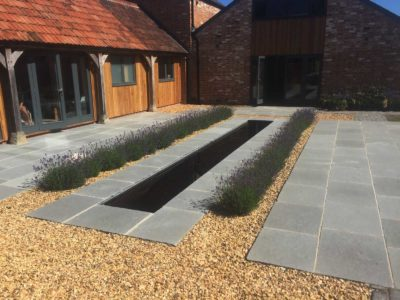 house-build courtyard landscaped