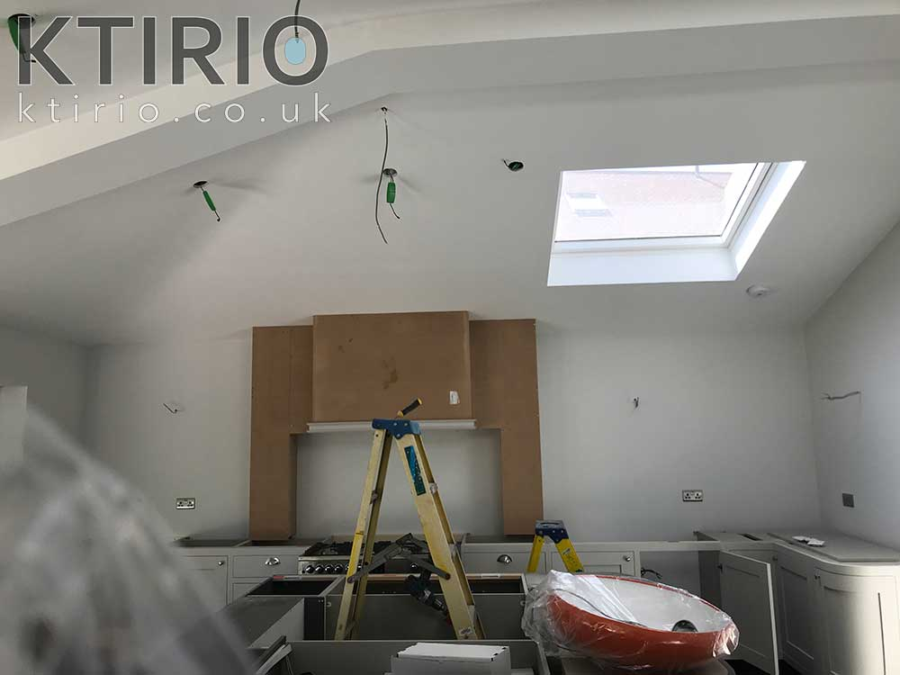 Home extension in progress