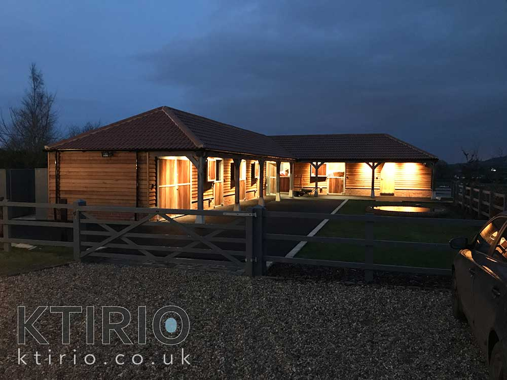 The riding stables building project Wiltshire