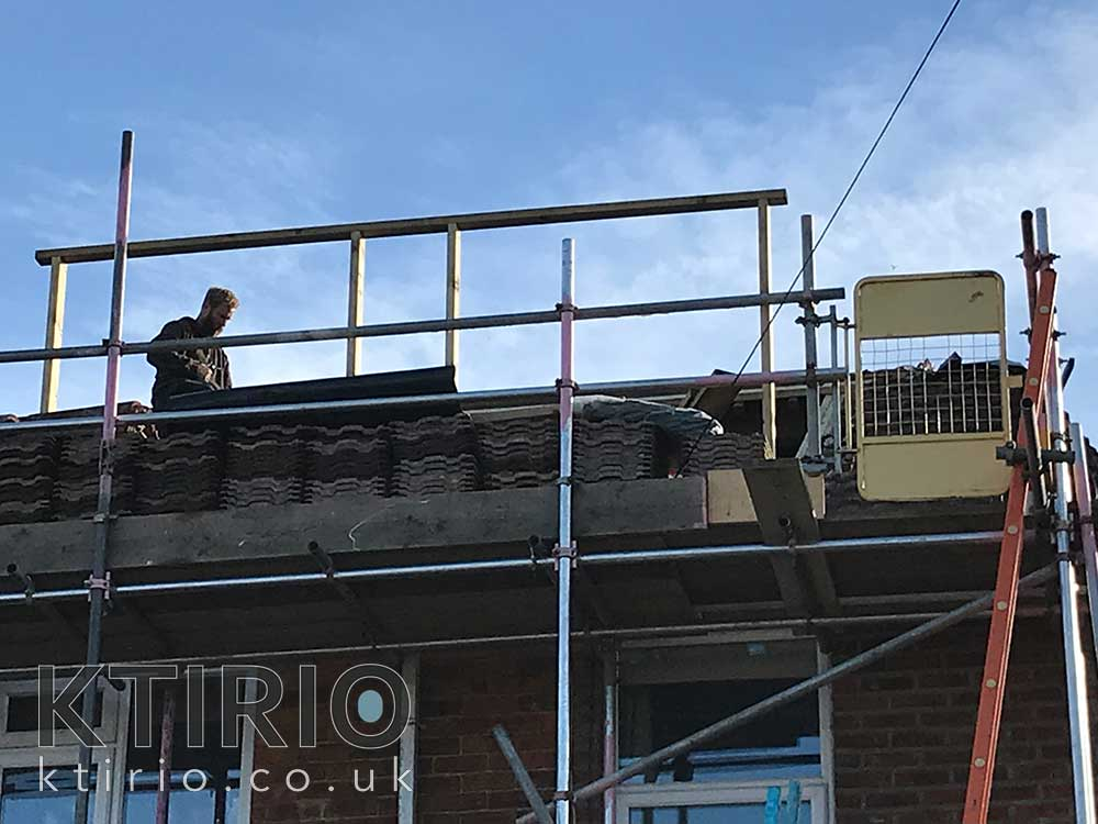 loft-conversion scaffolding